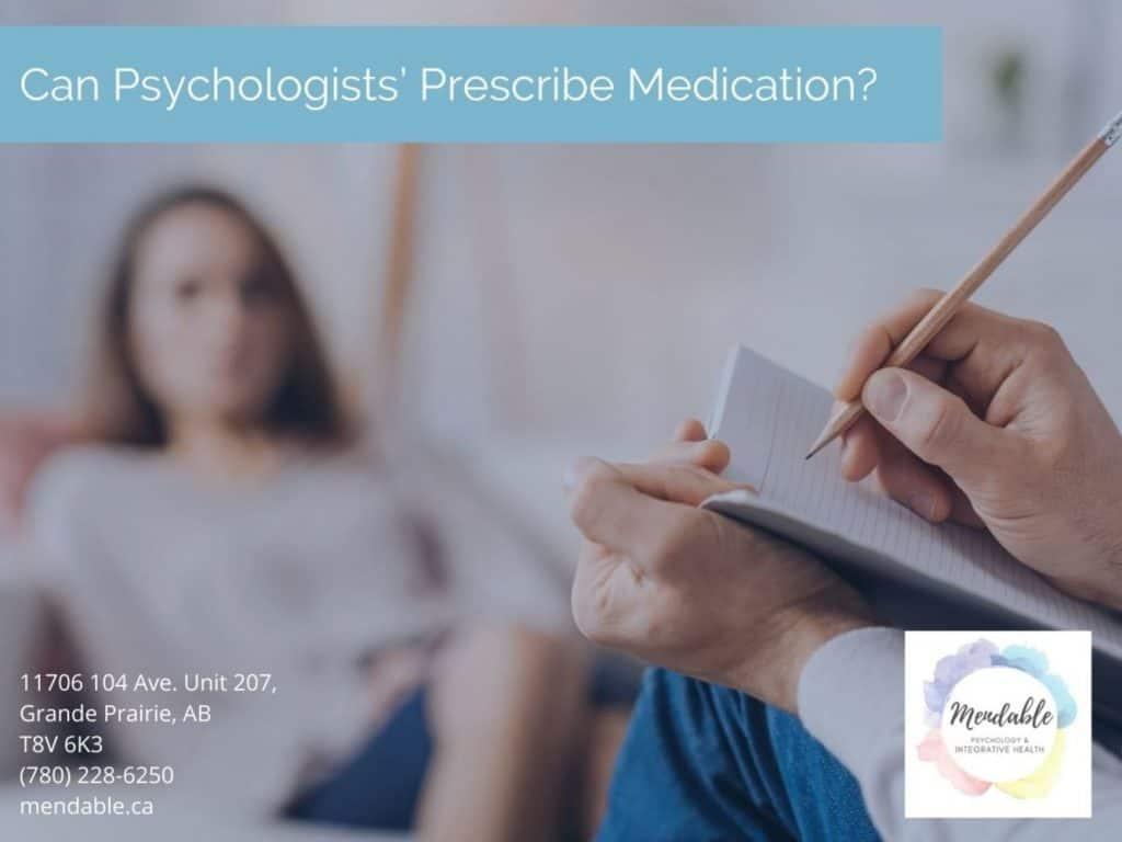 Can Psychologists Prescribe Medicine